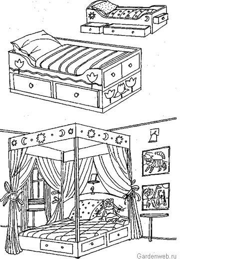 рисунок комнаты:
