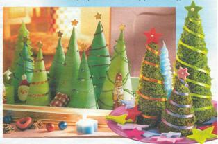 Делаем елку к новому году своими